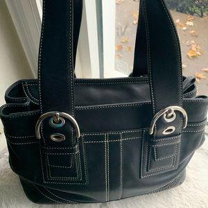 Coach black shoulder bag mini bag 8 x 13